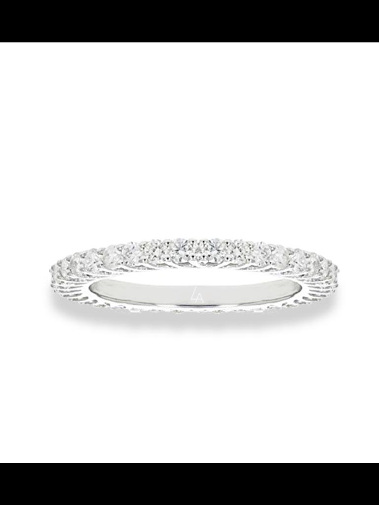 La Sisters LA Sisters Mini Eternity Ring silver