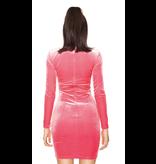 La Sisters LA Sisters mini velvet dress pink