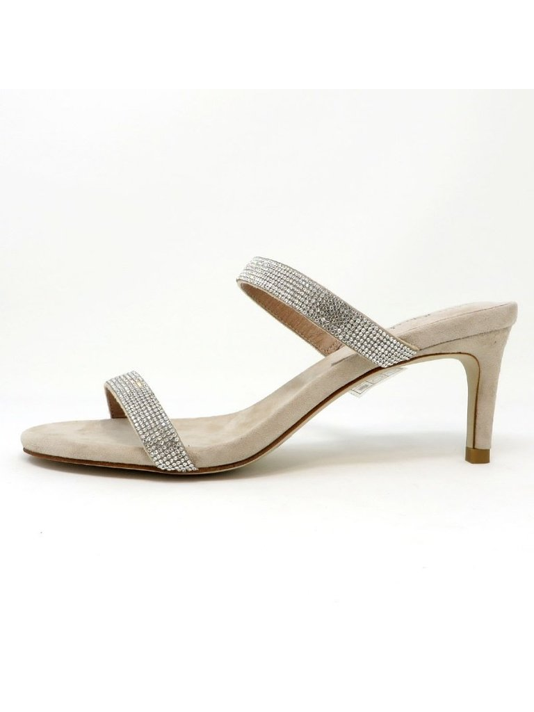 Jeffrey Campbell Jeffrey Campbell Royal Heeled sandal with strass nude