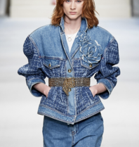Philosophy Di Lorenzo Serafini Philosophy Di Lorenzo Serafini denim jacket with worked fabric