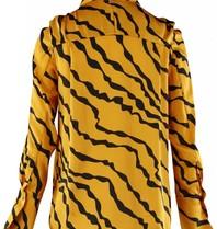 Silvian Heach Silvian Heach Pangma blouse met tijgerprint oranje
