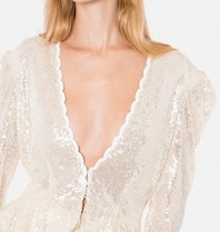 Philosophy Di Lorenzo Serafini Philosophy Di Lorenzo Serafini v-neck top with sequins cream