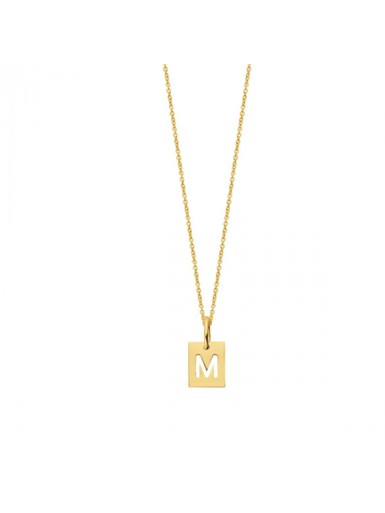Just Franky Just Franky Square Necklace 1 Square goud
