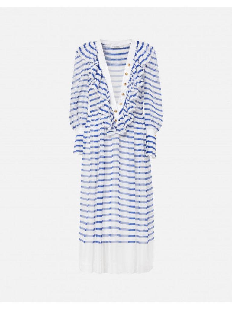 Philosophy Di Lorenzo Serafini Philosophy Di Lorenzo Serafini midi dress with stripe print blue white