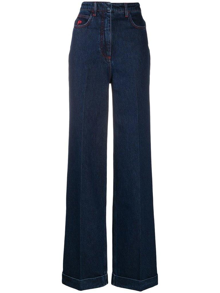 Philosophy Di Lorenzo Serafini Philosophy Di Lorenzo Serafini flared denim jeans blue