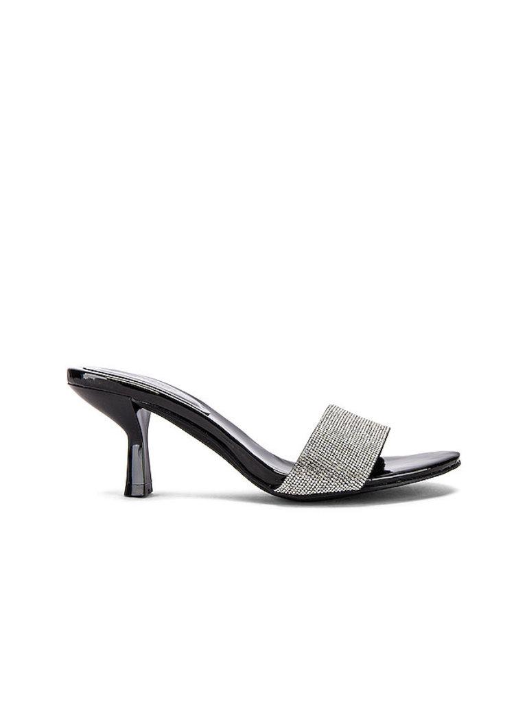 Jeffrey Campbell Jeffrey Campbell Glitzed Heeled sandal met strass zwart