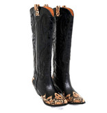 Jeffrey Campbell Jeffrey Campbell Calvary cowboy boots with black print