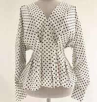 Silvian Heach Silvian Heach Sidob blouse with dot print white