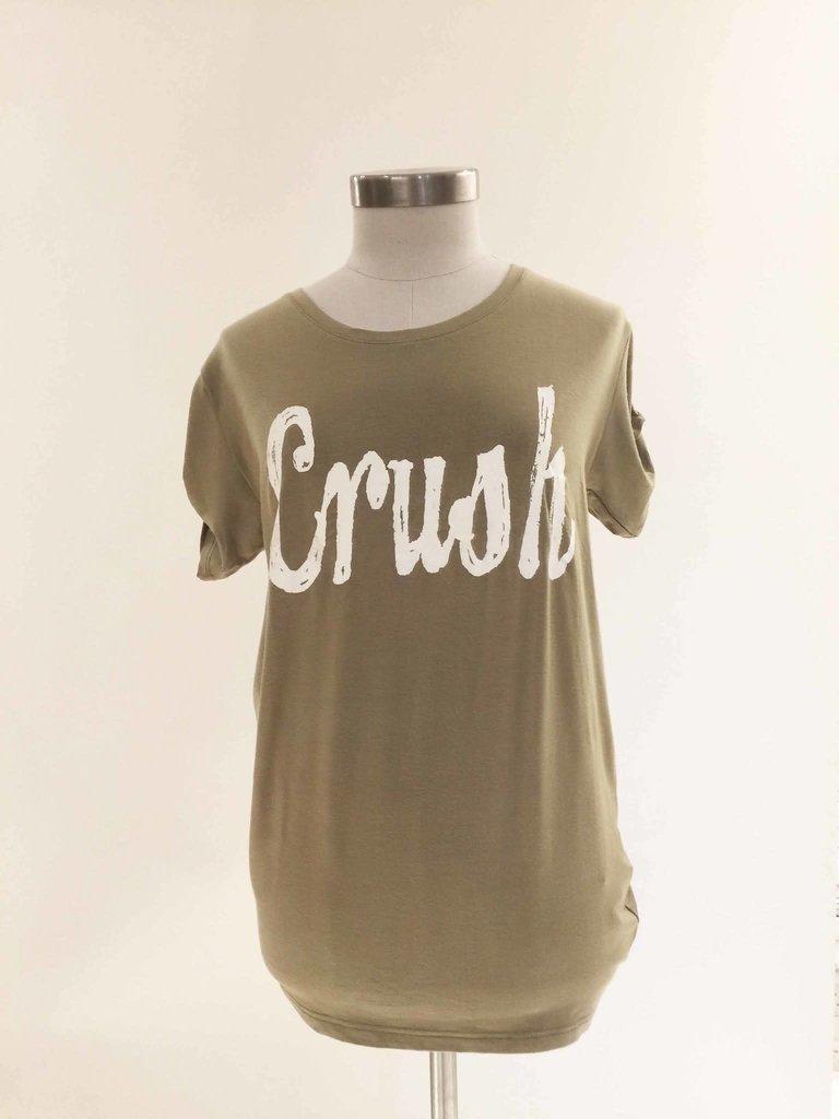 VLVT VLVT Crush tee groen