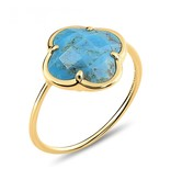 Morganne Bello Morganne Bello ring with turquoise corset stone yellow gold