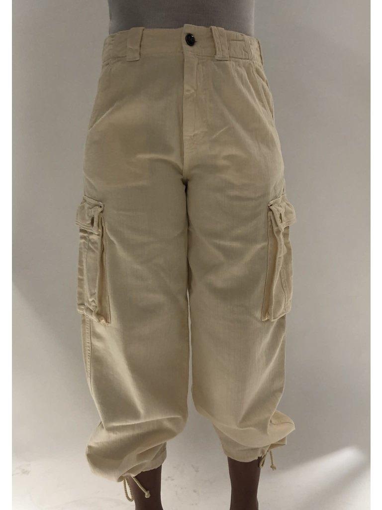 Semicouture Semicouture losvallende cargo jeans crème