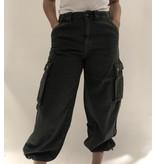 Semicouture Semicouture losvallende cargo jeans groen