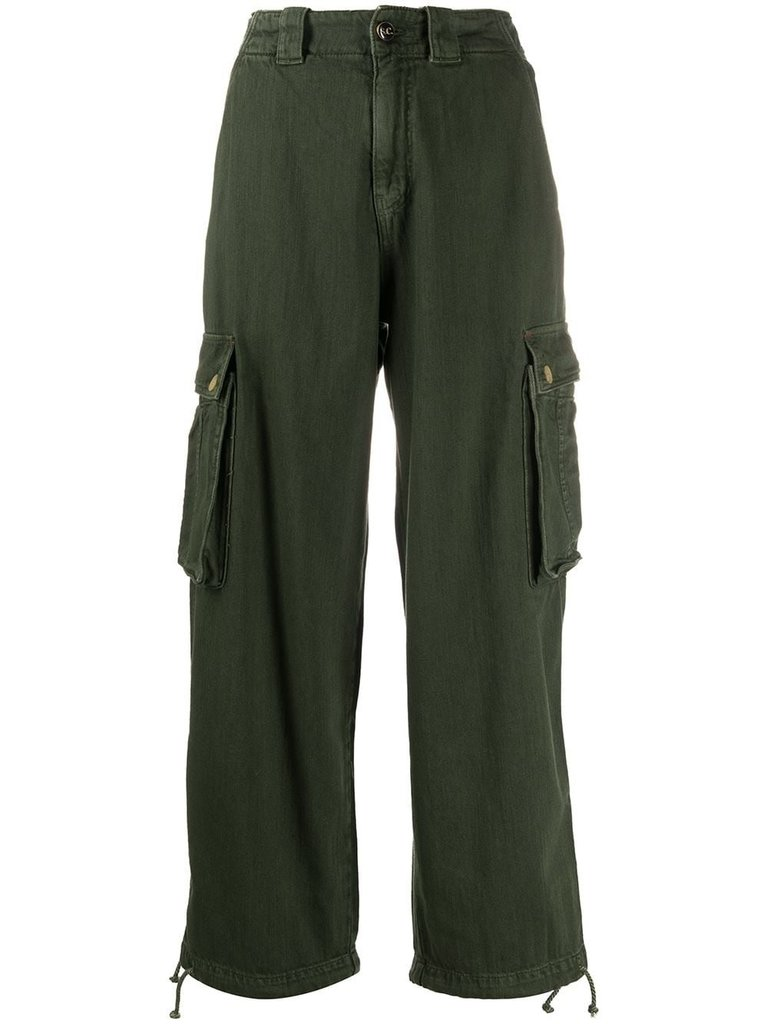 Semicouture Semicouture loose-fitting cargo jeans green