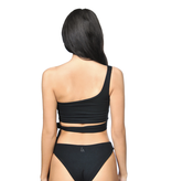 La Sisters LA Sisters Off-shoulder Tie Bikini zwart