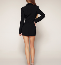 Luscious The Label Luscious Das Label Kourtney Mesh Korsett Blazer Kleid schwarz