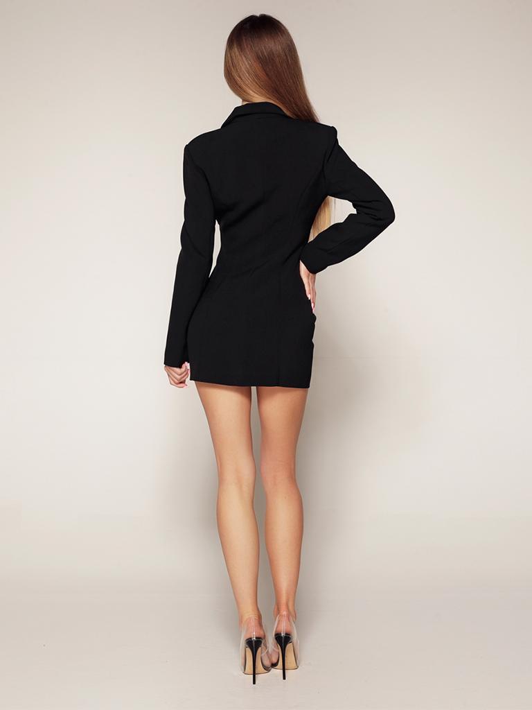 Luscious The Label Luscious Das Label Kourtney Mesh Korsett Blazer Kleid schwarz