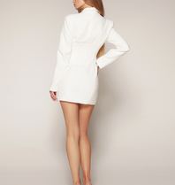 Luscious The Label Luscious The Label Khloe Korsett Blazer Kleid weiß