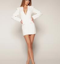 Luscious The Label Luscious The Label Khloe corset blazer dress white