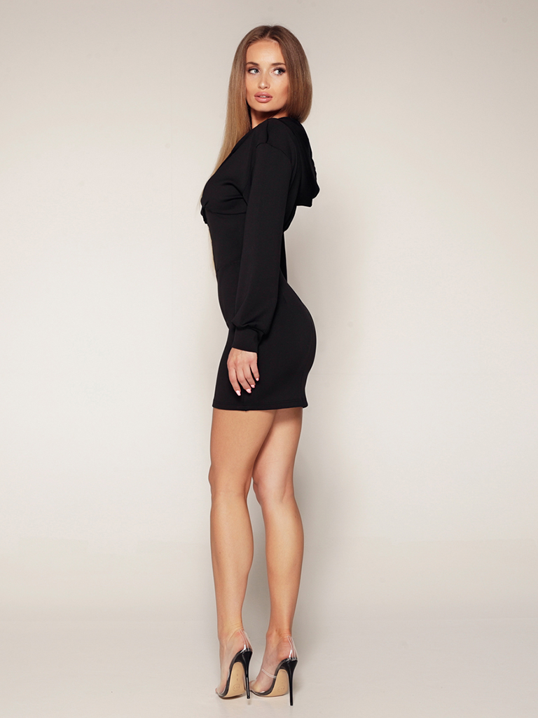 Luscious The Label Luscious The Label Leila hooded corset dress black