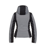 Goldbergh Goldbergh Kate ski jacket with pied-a-poule print black and white