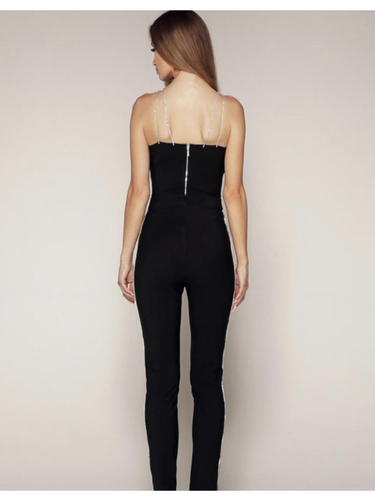Luscious The Label Luscious The Label Nina bodysuit with strass black