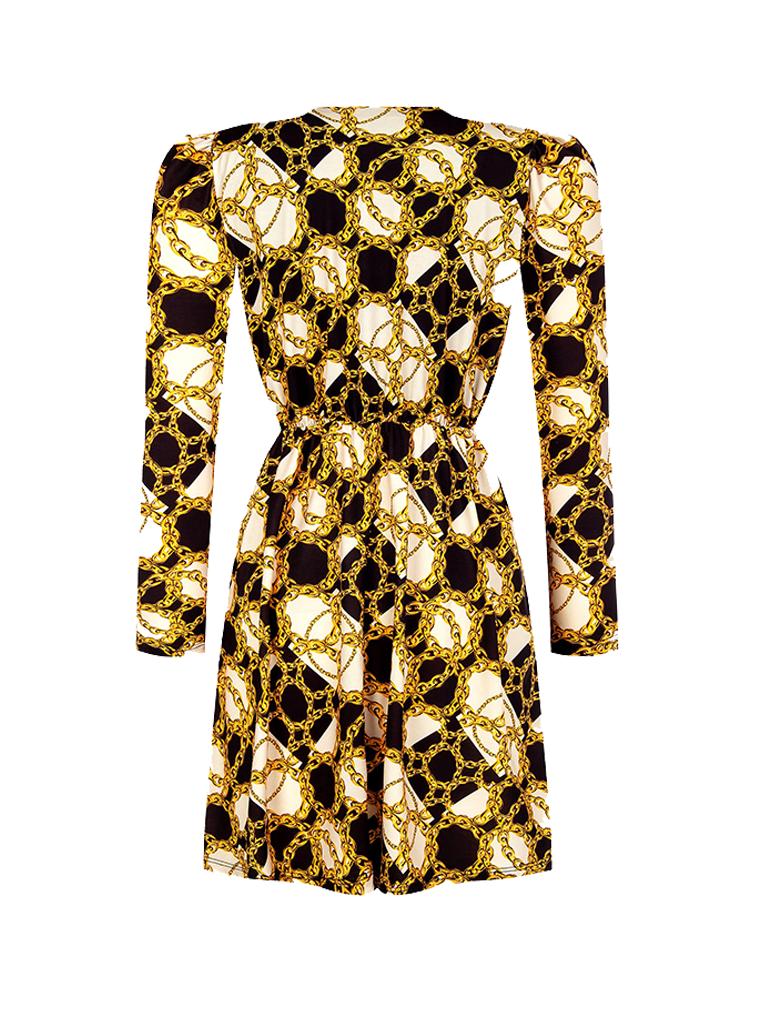 Rinascimento Rinascimento jurk met print zwart
