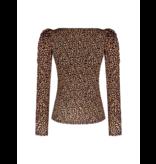 Rinascimento Rinascimento top met luipaardprint