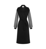 Rinascimento Rinascimento coat with pied de poule and black belt