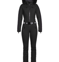Goldbergh Goldbergh Empress jumpsuit with faux fur black