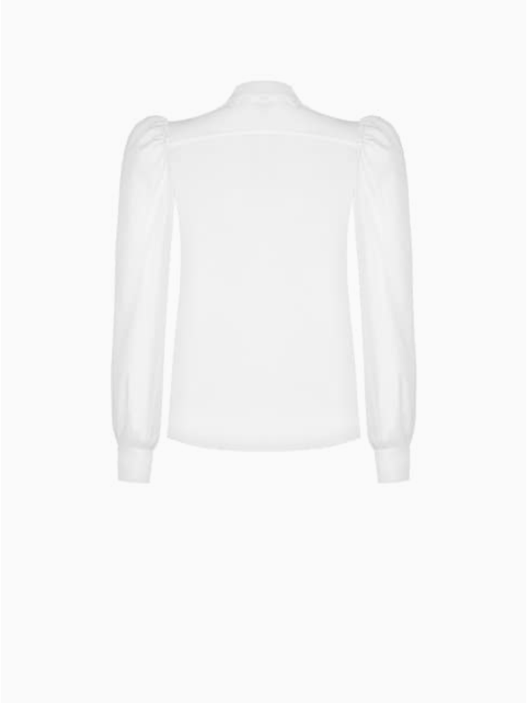 Rinascimento Rinascimento blouse met broderie kraag wit