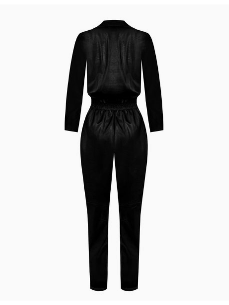 Rinascimento Rinascimento faux leather jumpsuit black