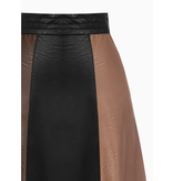 Rinascimento Rinascimento midi faux leather skirt black brown