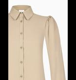 Rinascimento Rinascimento blouse with puff sleeves camel