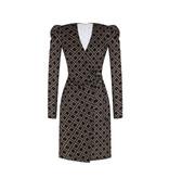 Rinascimento Rinascimento wrap dress met print zwart