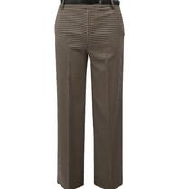 Rinascimento Rinascimento pantalon met pied-a-poule print en ceintuur multicolor