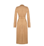 Rinascimento Rinascimento faux suede trench coat with camel belt
