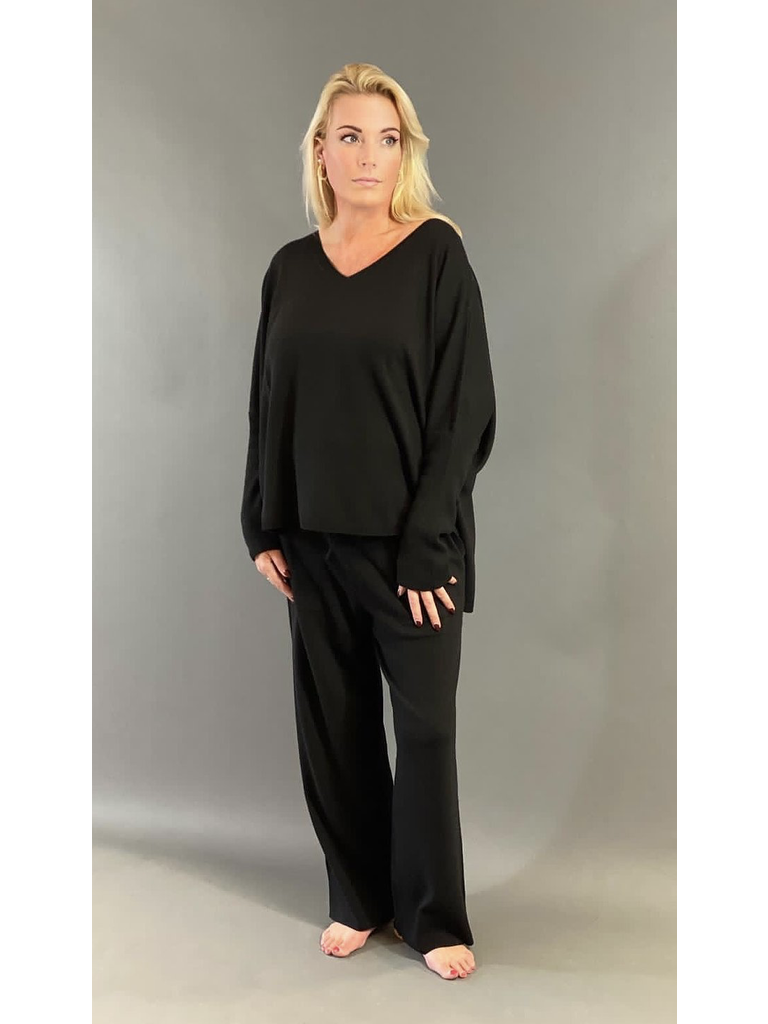 Est'seven Est'Seven Ayden Cashmere sweater zwart