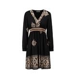 Rinascimento Rinascimento dress with gold details black