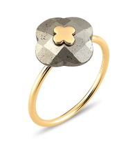 Morganne Bello Morganne Bello ring Pyrite stone yellow gold