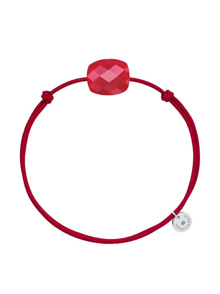 Morganne Bello Morganne Bello cord bracelet with Quartz red