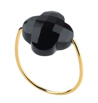 Morganne Bello Morganne Bello Gouden ring onyx steen zwart