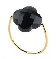 Morganne Bello Morganne Bello Klaver ring zwart goud