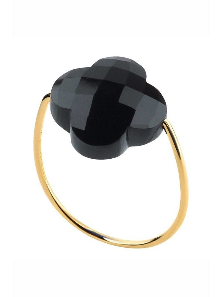 Morganne Bello Morganne Bello Gouden ring onyx steen zwart