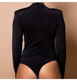 Body by Olcay Body by Olcay pleated front body zwart
