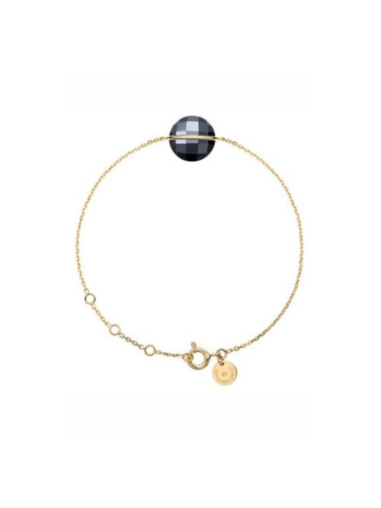 Morganne Bello Morganne Bello gouden armband met hematite steen rond