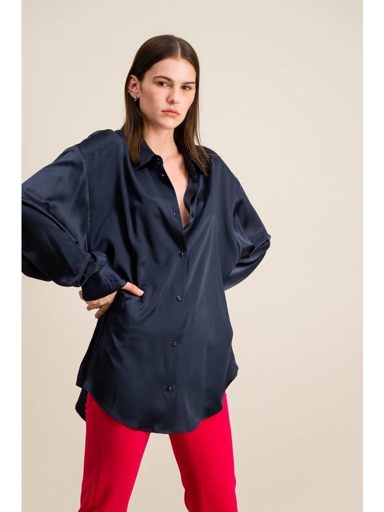DMN Paris DMN Paris Chloe silk blouse dark blue