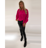 DMN Paris DMN Paris Chloe silk blouse fuchsia