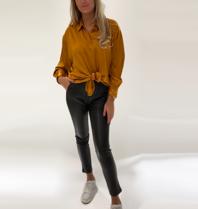 DMN Paris DMN Paris Chloe zijde blouse oranje