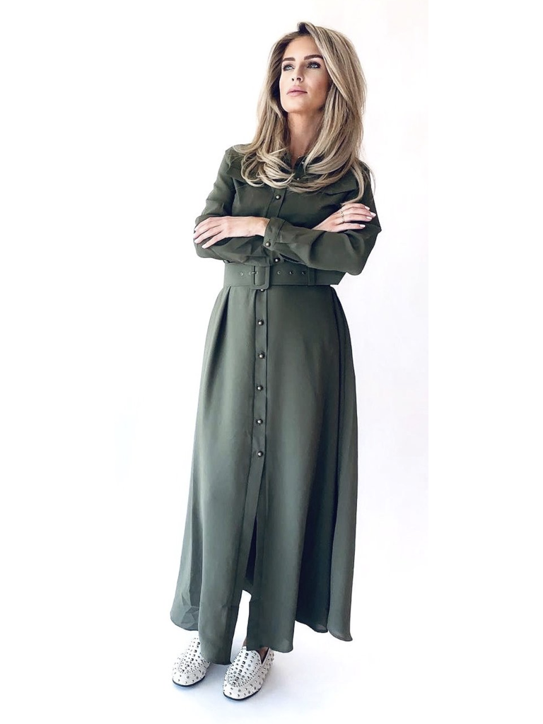 Est'seven Est'Seven Rio Basic maxi dress green