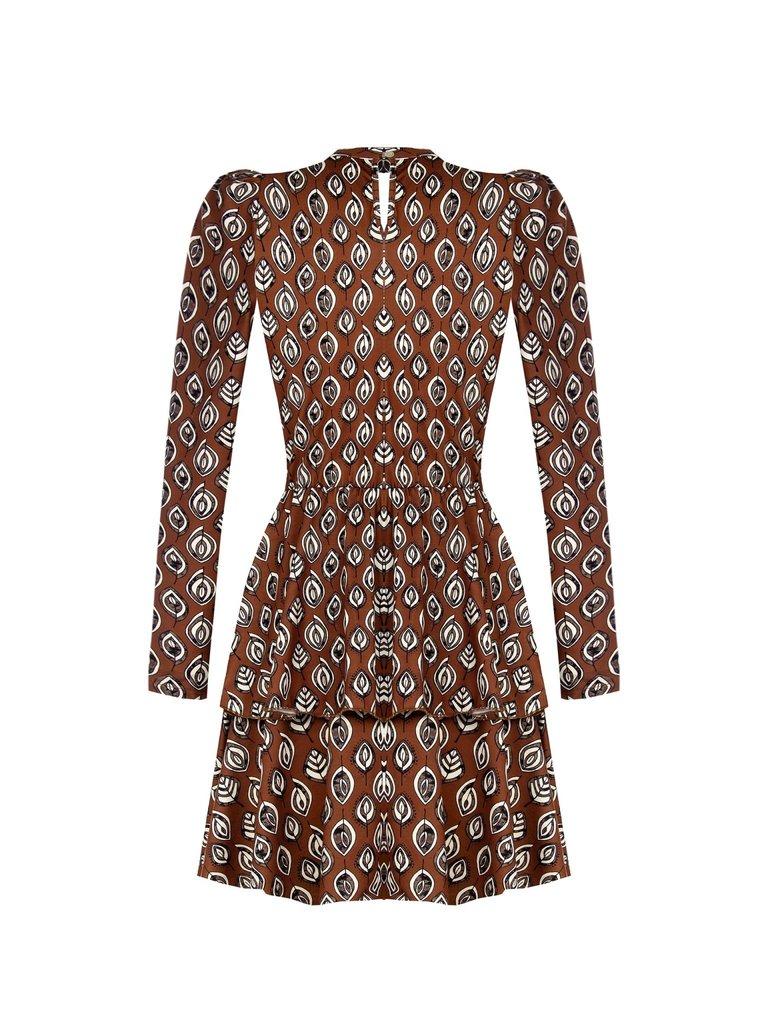 Rinascimento Rinascimento jurk met print bruin